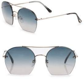 Tom Ford Antonia 55MM Round Sunglasses