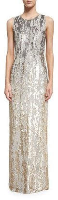 Jenny Packham Sleeveless Sequined Burnout Gown, Dawn Gold $4,490 thestylecure.com