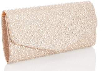 Quiz Gold Jewel Clutch Bag