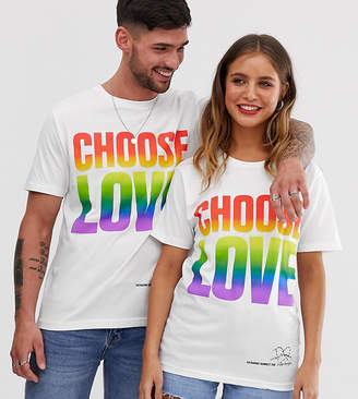 Asos Help Refugees Choose Love organic cotton rainbow print t-shirt