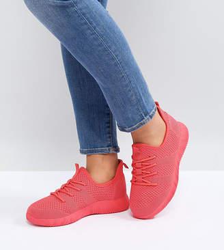 Asos DESIGN DEDICATE Wide Fit Knitted Sneakers
