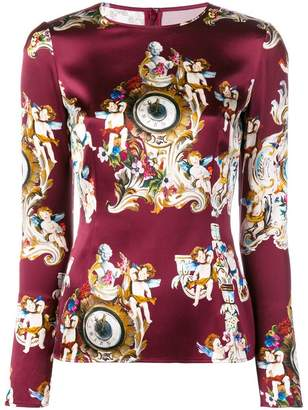Dolce & Gabbana printed fitted blouse