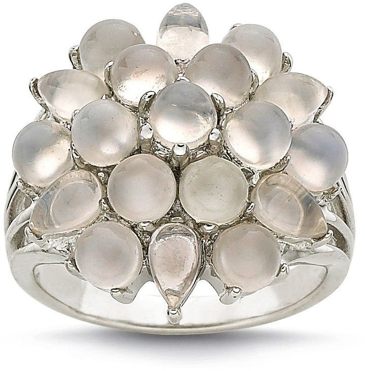 JCPenney FINE JEWELRY Sterling Silver Moonstone Cabochon-Cut Ring