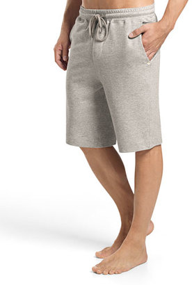 Hanro Raul Knit Lounge Shorts, Light Gray $140 thestylecure.com