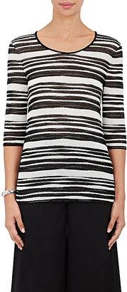 Giorgio Armani Women's Striped Fine Ottoman-Knit Top $1,295 thestylecure.com
