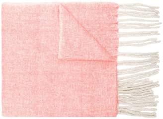 Closed woven tassel scarf
