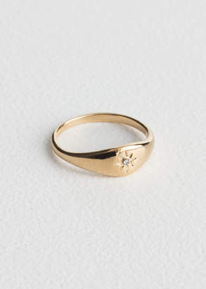 And other stories Star Embossed Ring