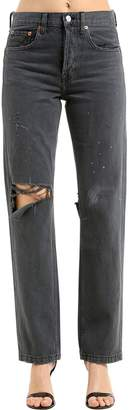 RE/DONE Re Done Grunge Straight Leg Denim Jeans
