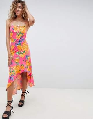 531e81f24376 Asos Design DESIGN hi lo hem cami maxi dress in bright floral
