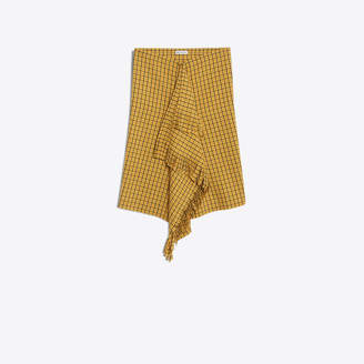 Balenciaga Fine stretch pied de poule midi skirt