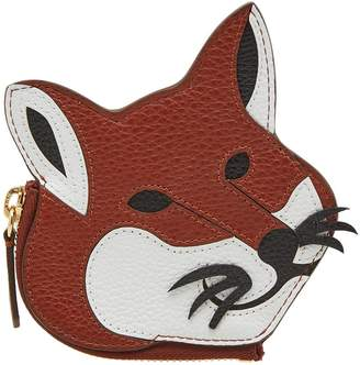 MAISON KITSUNÉ Leather Fox Head Coin Purse