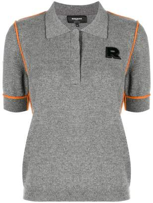 Rochas contrast piped polo shirt