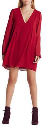 BCBGeneration Back Bow Chiffon Swing Dress