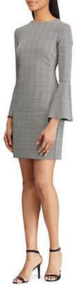 Lauren Ralph Lauren Plaid Print Bell-Sleeve Dress