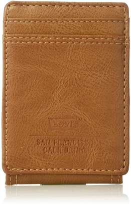 Levi's Men's RFID Blocking Wide Magnetic Slim Money Clip