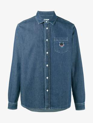 Kenzo tiger embroidered denim shirt