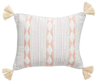 Levtex Massie Embroidered Stripes Accent Pillow