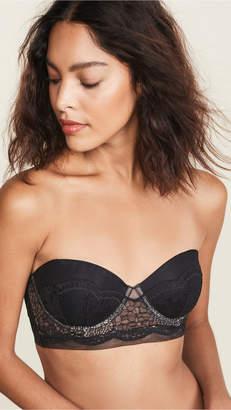 Calvin Klein Underwear Crackled Lace Lightly Lined Strapless Bra