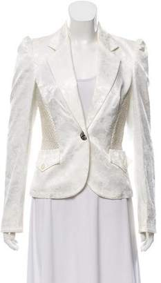 Just Cavalli Long Sleeve Jacquard Blazer