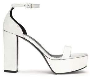 Stella McCartney Metallic Faux Leather Platform Sandals