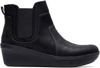 Clarks Cloudsteppers By Step Rose Sun Wedge Chelsea Boots
