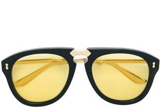 Gucci round frame foldable sunglasses