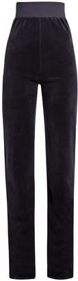 VETEMENTS X Juicy Couture velour track pants $1,140 thestylecure.com