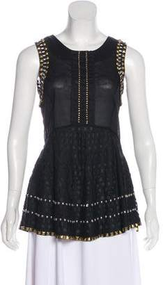 Tory Burch Sleeveless Embellished Top