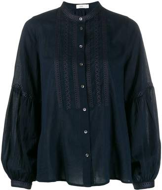 Closed embroidered front blouse