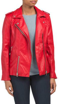 Oversize Faux Leather Moto Jacket