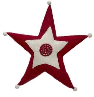 Arcadia Home Handmade Jester Star Christmas Tree Topper