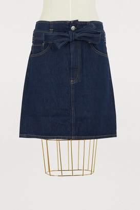 3x1 3 X 1 Kelly Paperbag denim skirt