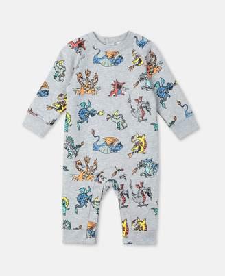 Stella McCartney Dragons Cotton Fleece Jumpsuit, Unisex