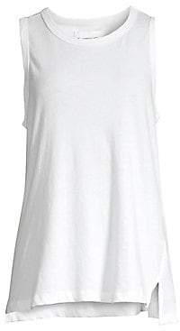 Current/Elliott Women's The Muscle Distressed Cotton Tank