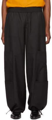 Wales Bonner Black Pinstripe Yoga Trousers