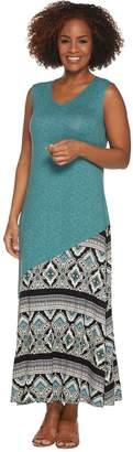 Joan Rivers Classics Collection Joan Rivers Petite Length Mixed Pattern Sleeveless Maxi Dress