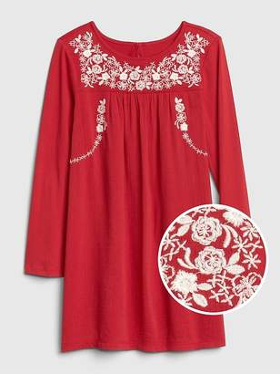 Gap Embroidered Swing Dress