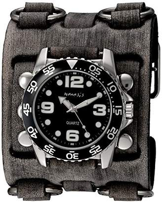 Nemesis Men's 'Groovy Series' Quartz Stainless Steel and Leather Watch