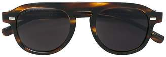 HUGO BOSS tortoiseshell-effect round sunglasses