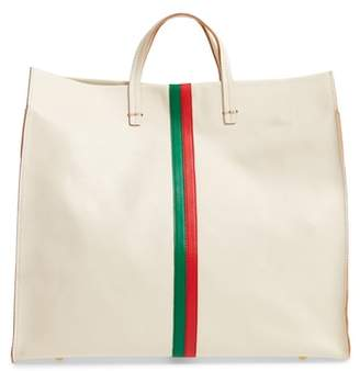 Clare Vivier Simple Stripe Leather Tote