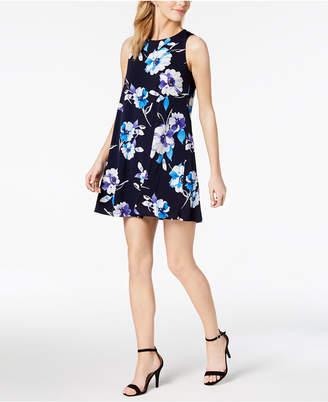Jessica Howard Petite Floral-Print Trapeze Dress