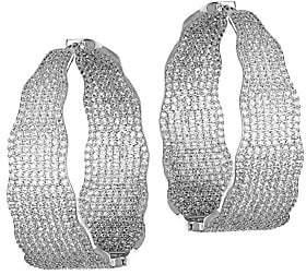 Fallon Crystal Pavé Hinge Hoop Earrings