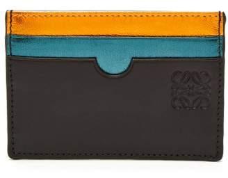 Loewe Metallic Rainbow Leather Cardholder - Womens - Multi