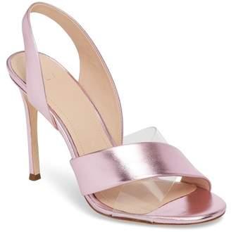 Pour La Victoire Elly Leather Slingback Sandal