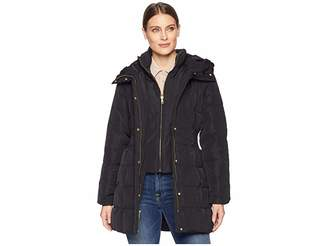 Cole Haan Down Coat with Bib Front and Dramatic Hood