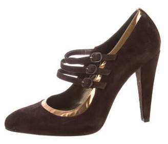 Stuart Weitzman Pointed-Toe Mary Jane Pumps