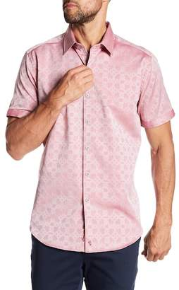 Robert Graham Maya Bay Short Sleeve Classic Fit Print Woven Shirt