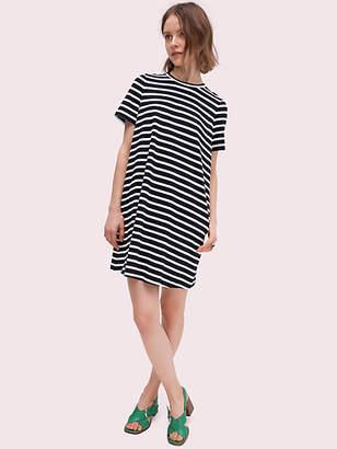 Kate Spade Stripe Zip-back Knit Dress, Black/Cream - Size M