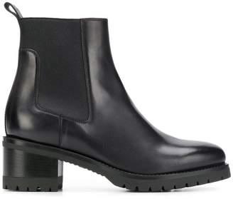 Santoni chunky heel Chelsea boots