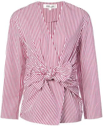 Diane von Furstenberg striped wrap blouse